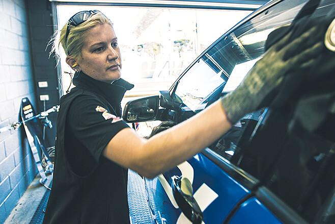 Frances Buckley with Erebus Motorsport