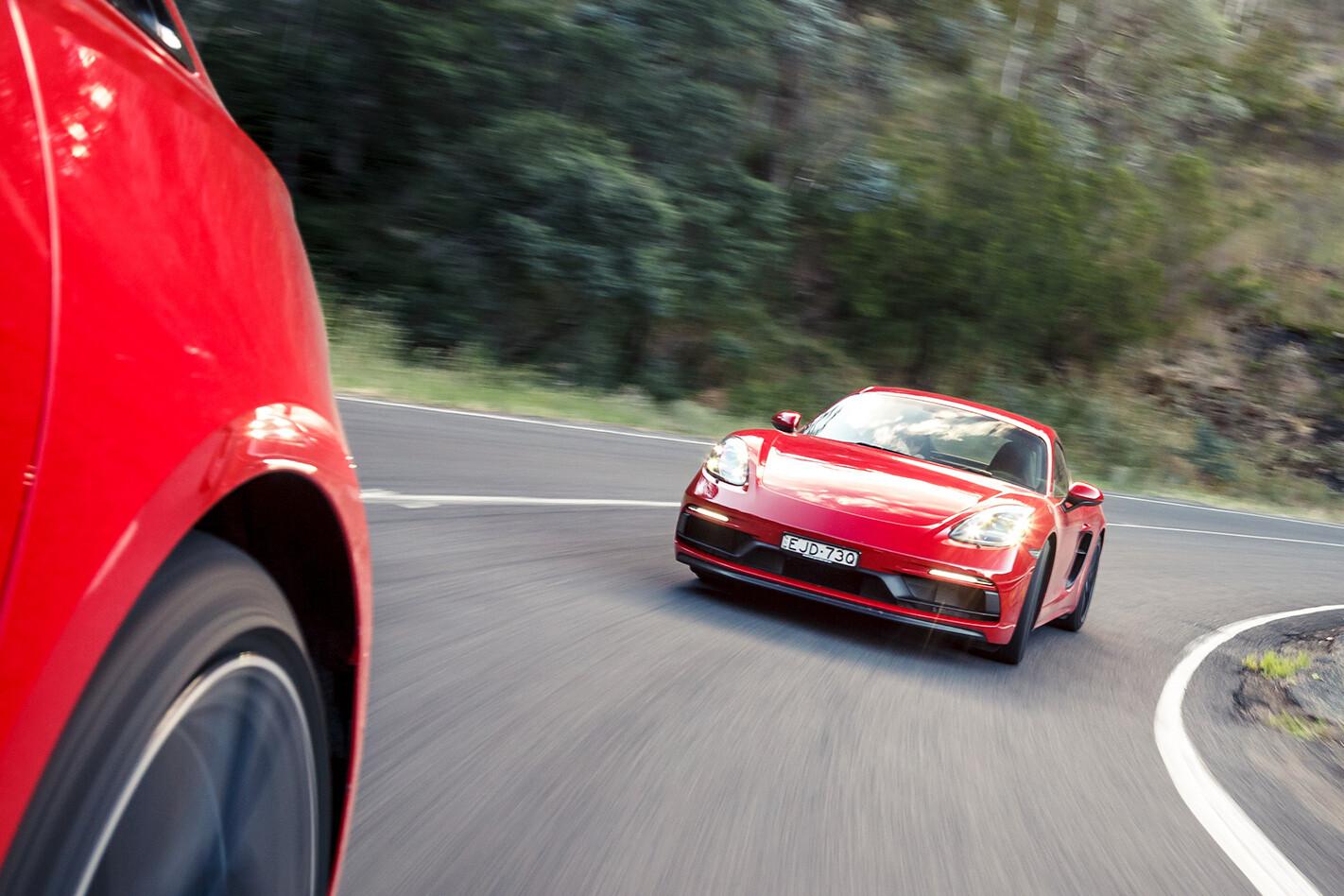 Porsche Cayman GTS Pcoty 5 Front Tracking Jpg