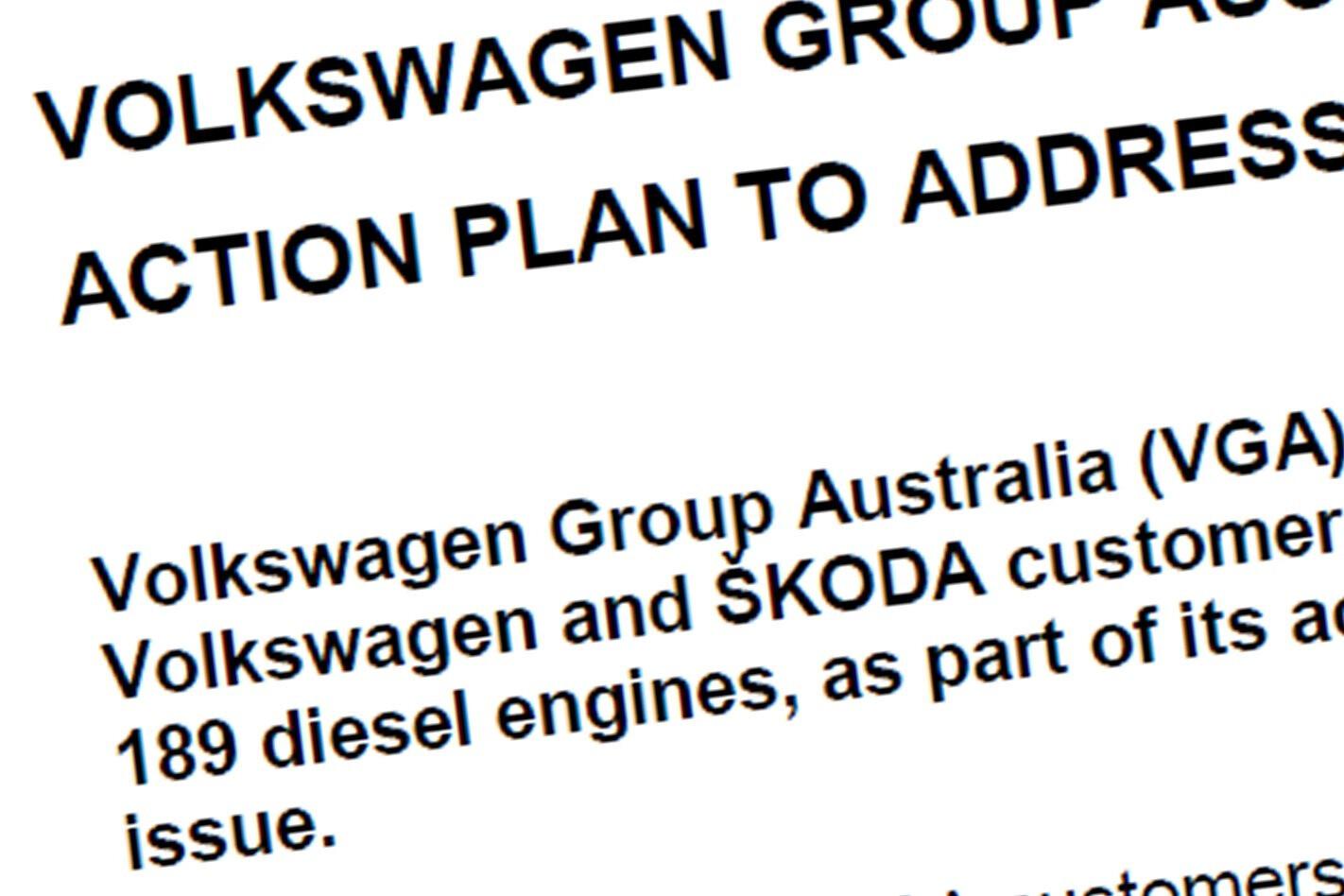 Volkswagen Australia's statement in full