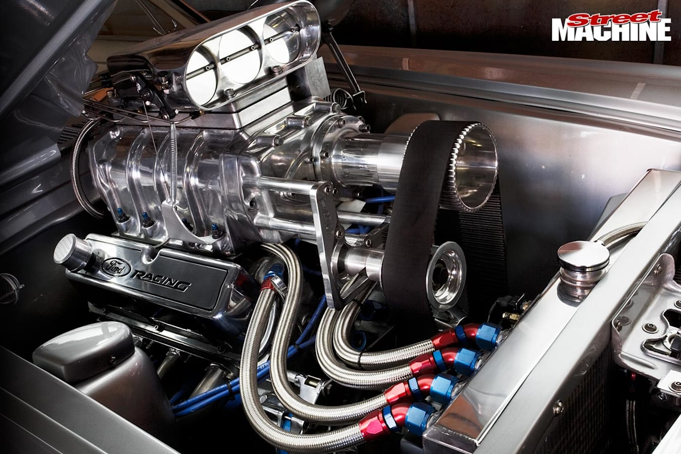Ford Mustang engine bay