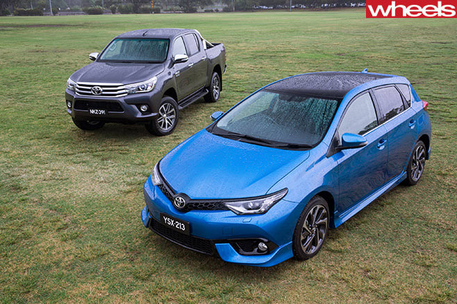 Toyota -Corolla -and -Toyota -Hi Lux