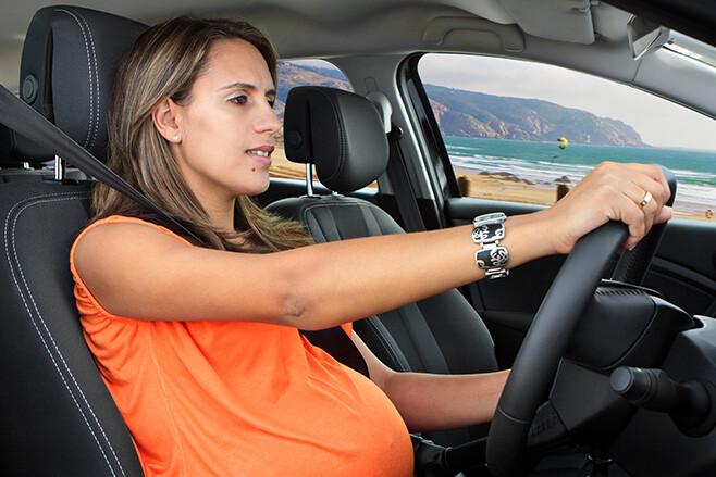 Pregnant woman driving