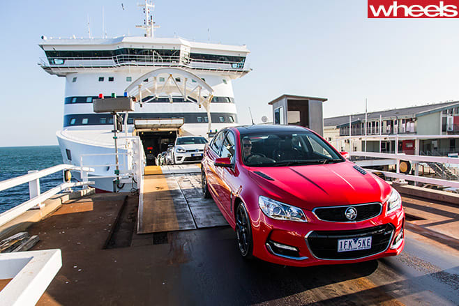 Holden -Commodore -SS-V-on -Spirit -of -Tasmania