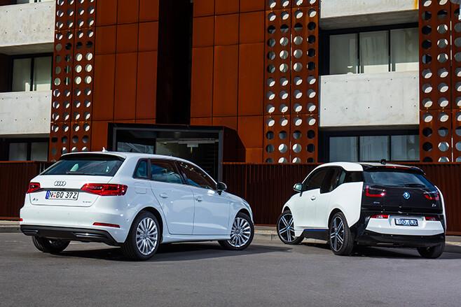 BMW-i 3-vs -Audi -A3-e -tron -rear