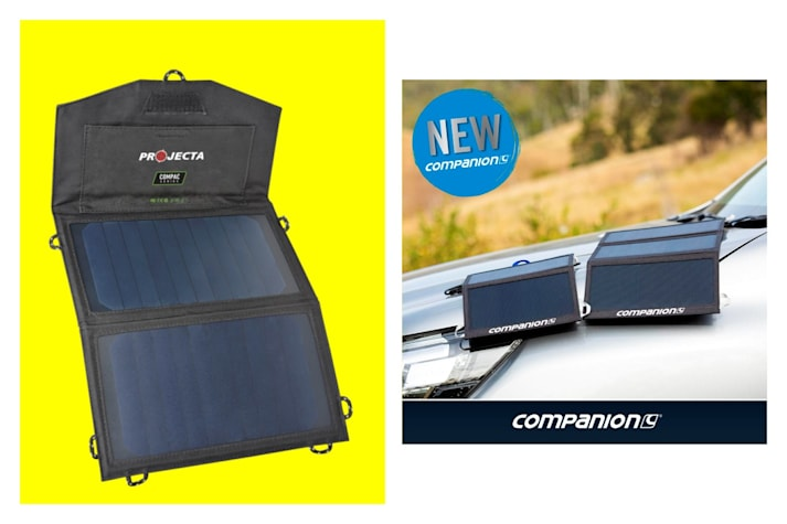 Companion solar charger + Projecta folding solar panel