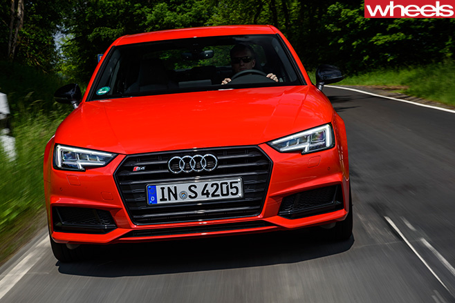 Audi -S4-driving -front