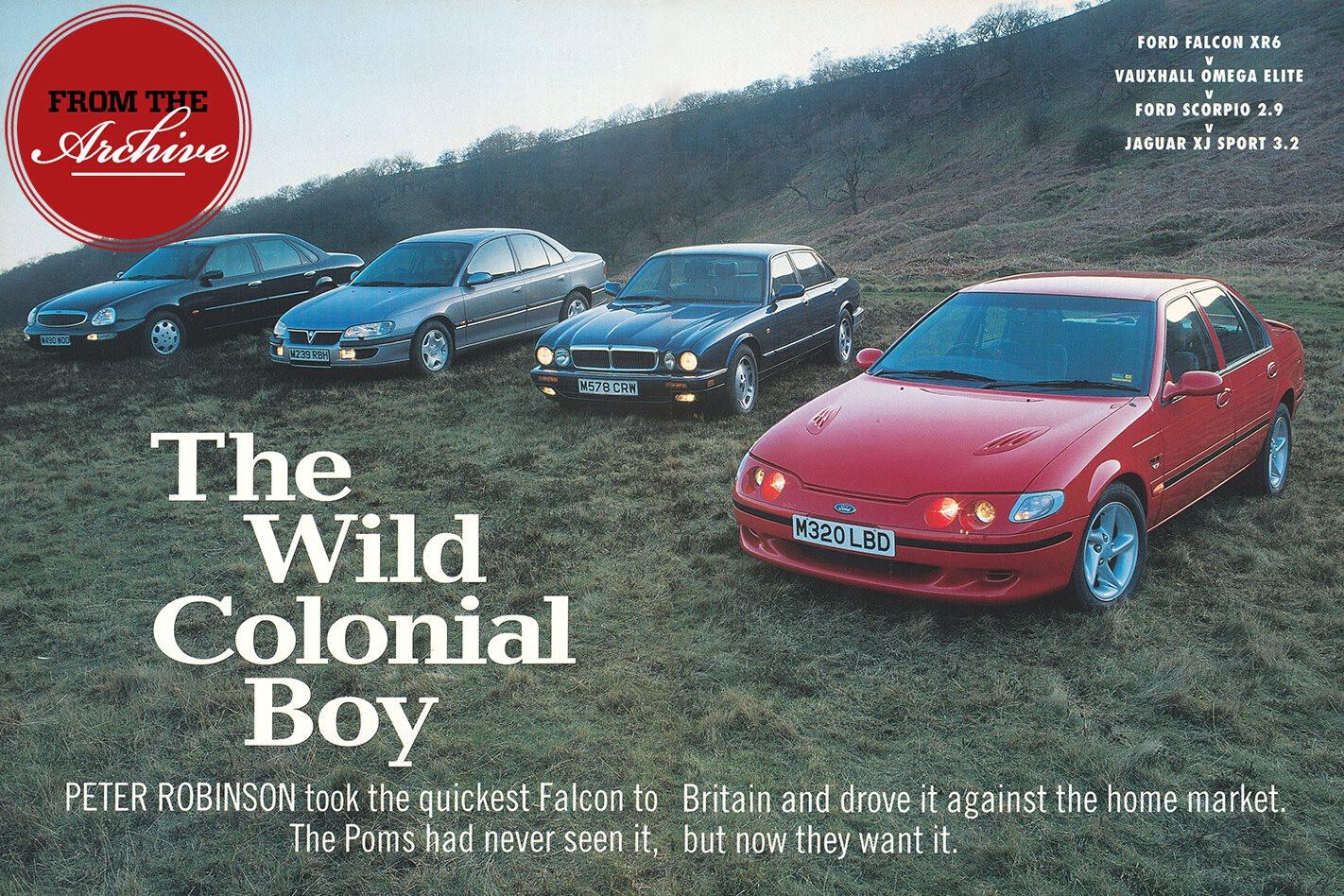 Ford Falcon XR6 vs Vauxhall Omega vs Ford Scorpio vs Jaguar XJ