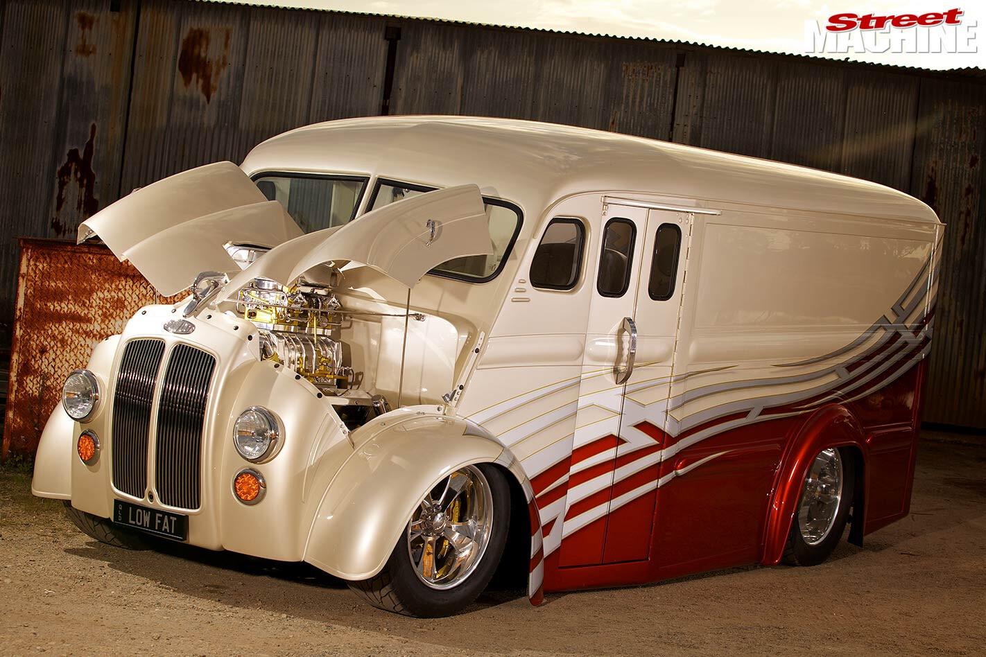 custom Divco van