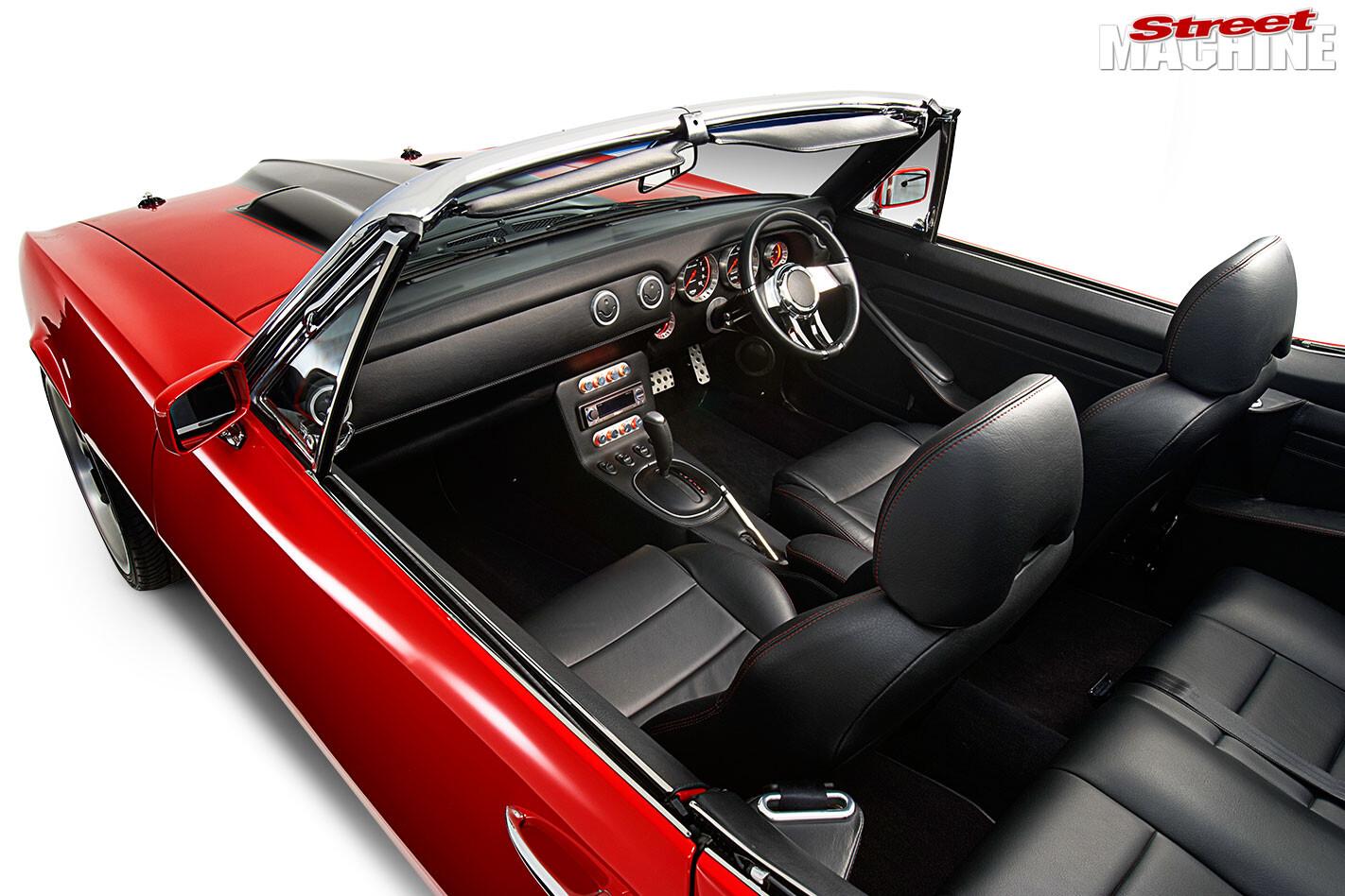 Pontiac Firebird convertible interior