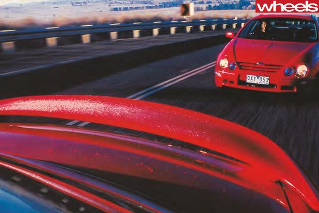 2001-Ford -Falcon -driving -spoiler
