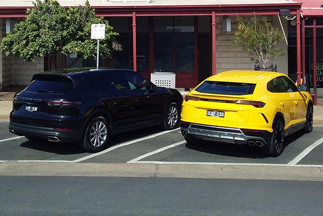 Lamborghini Urus and Porsche Cayenne