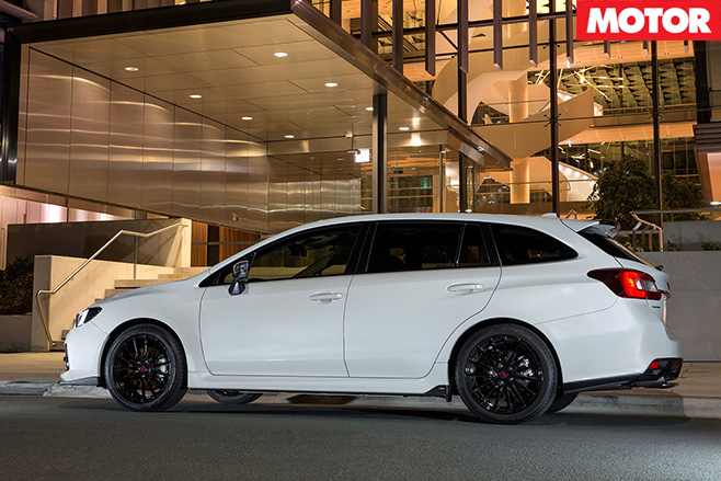 Subaru levorg side view