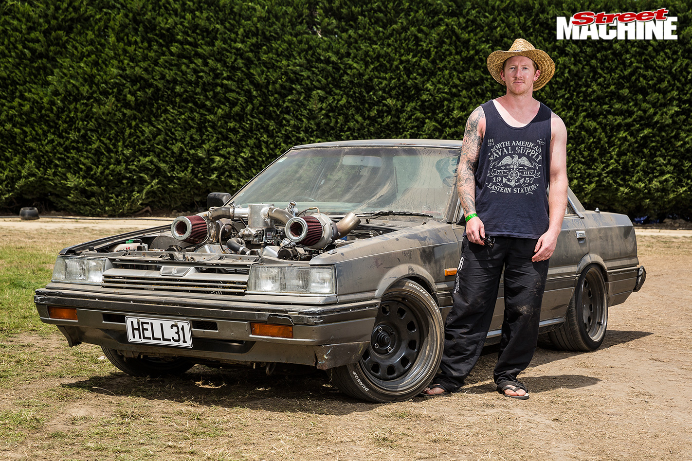 Nz -muscle -car -madness -74-nissan -skyline -ratter
