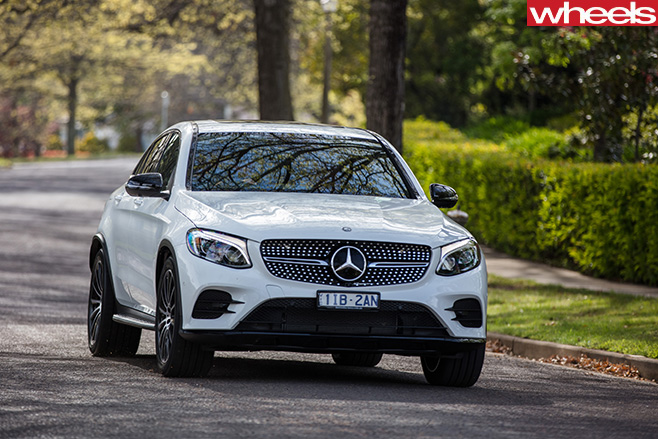 2017 Mercedes Benz GLC coupe front