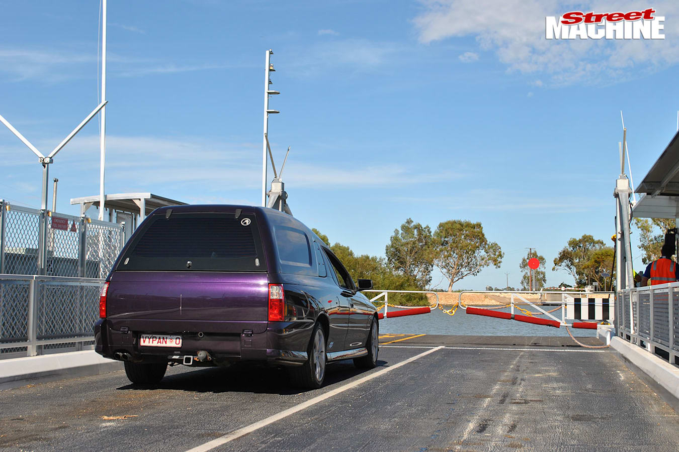 Holden VY Statesman on ferry
