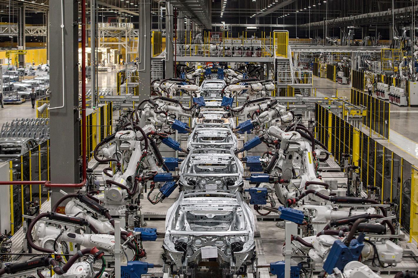 car manufacturing slows