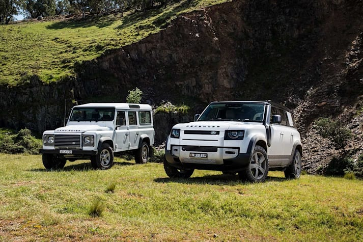 Old and new Defender