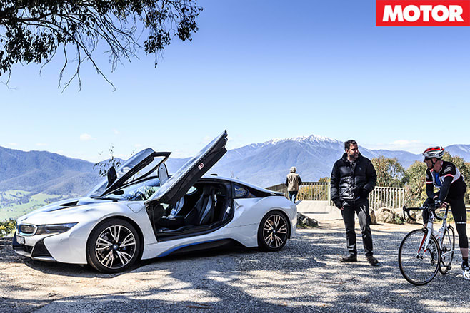 Bmw i8 and people