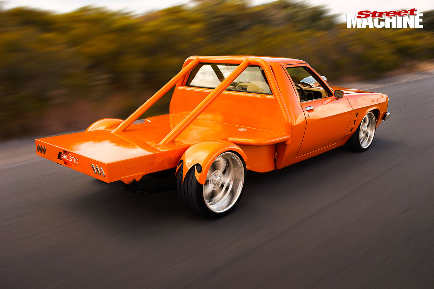 400-Cube -Holden -HQ-One -Tonner -driving -rear