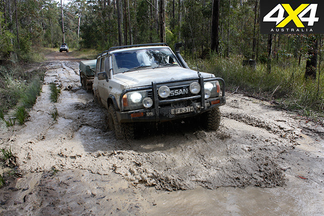 Tacking mud holes