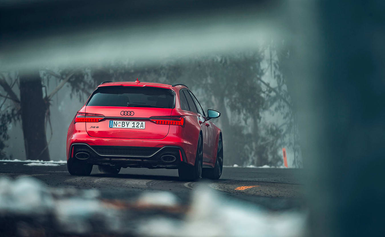 2020 Audi RS6 rear driving