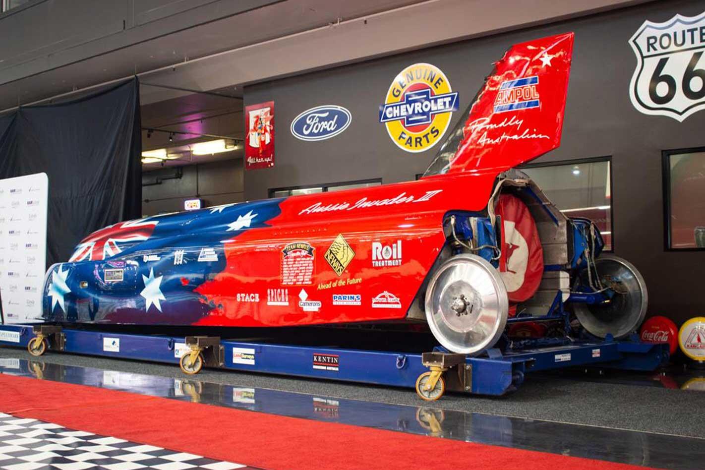 Gosford Classic Cars Auction Land Speed Rocket Car Jpg