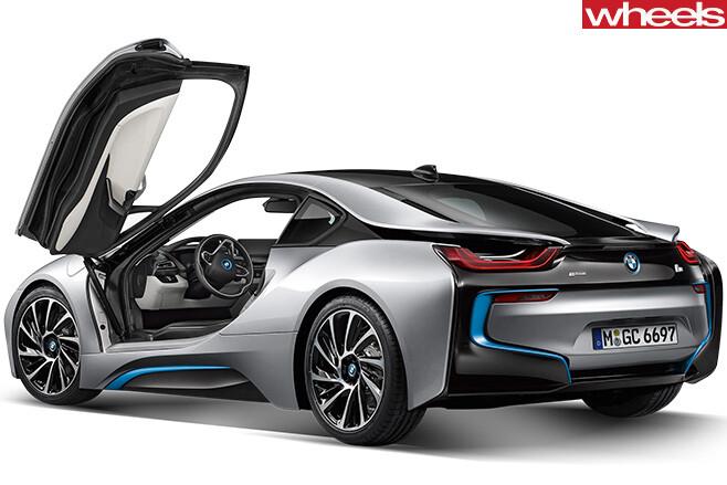 BMW-i 8-rear -door -open -coty -contender