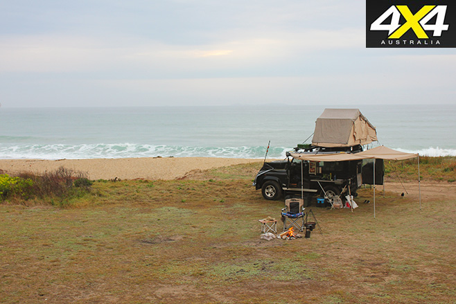 Campsite and views