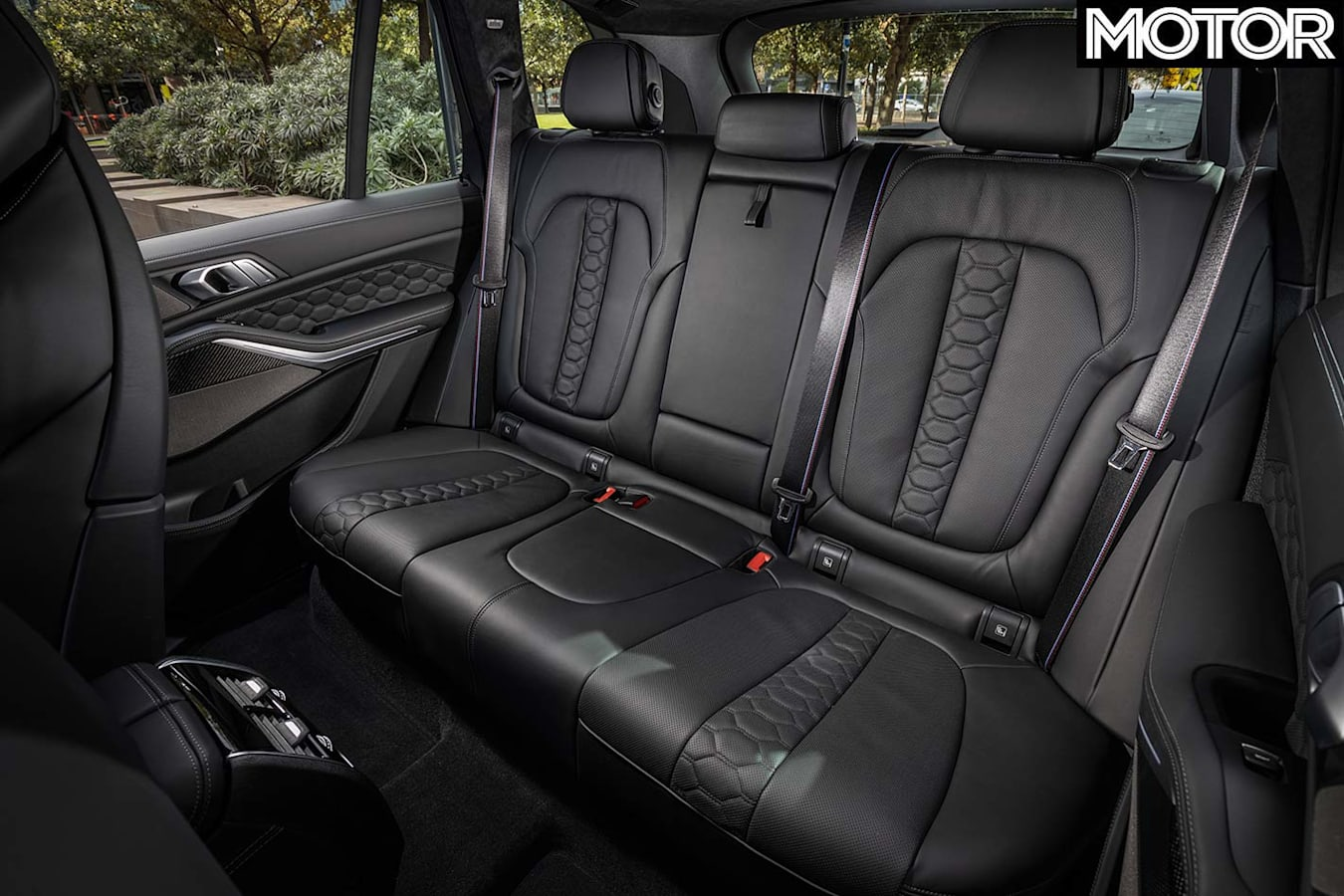 BMW X5M Competition rear seats