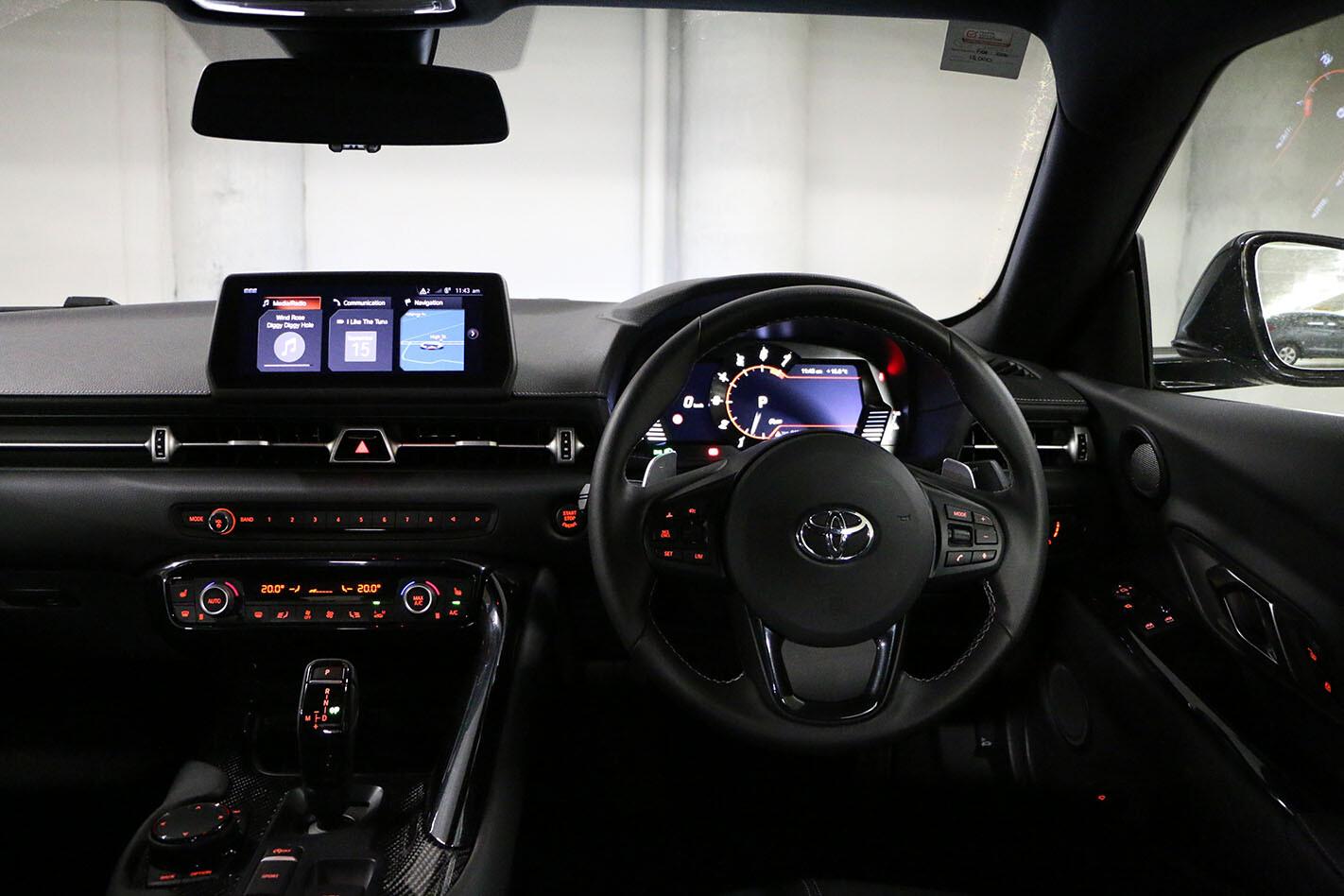 Toyota Supra cabin