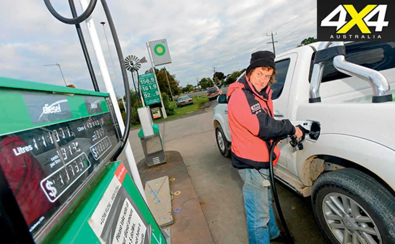 filling up a 4x4 ute