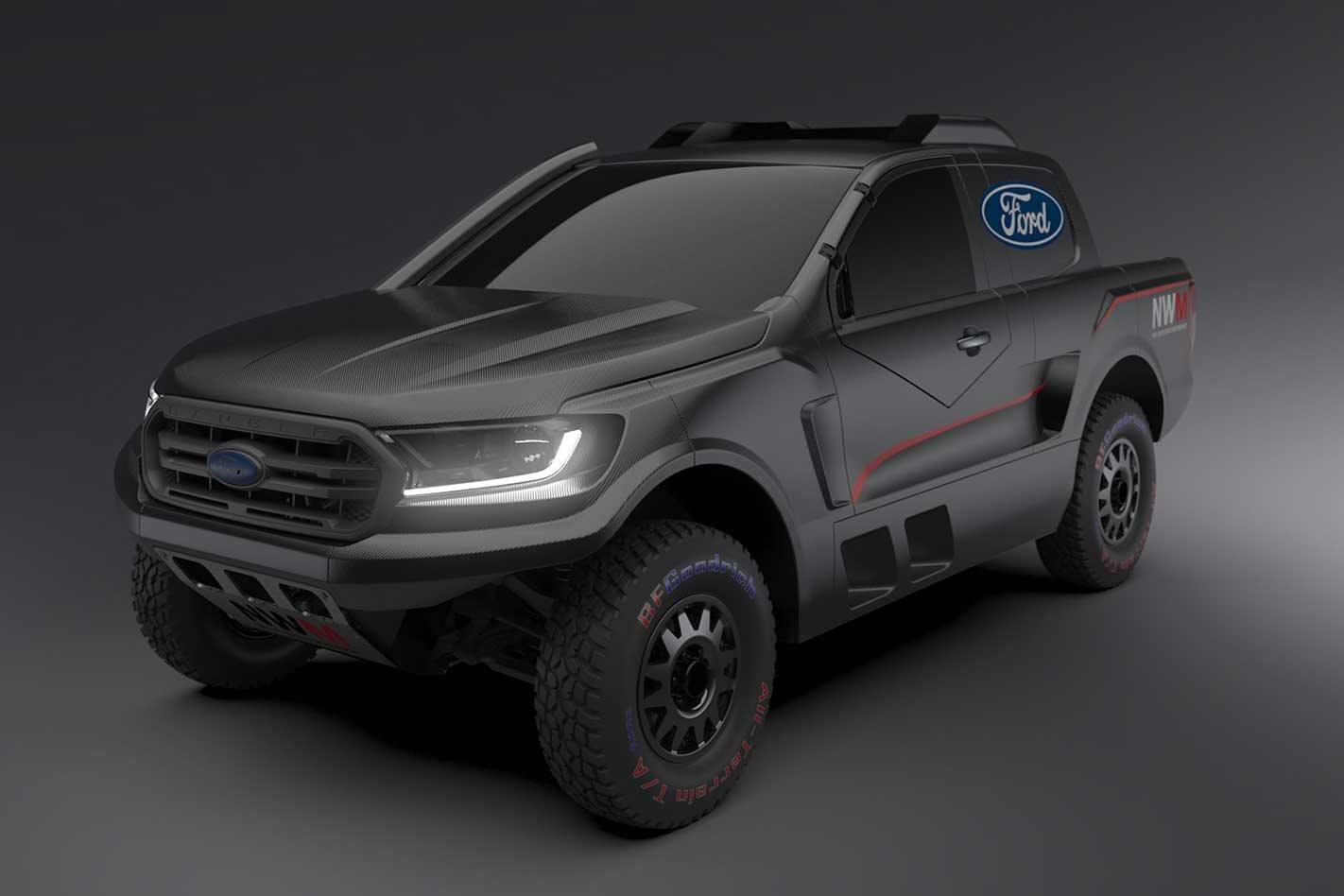 Ford F-150 Raptor-powered Ranger rally raid ute revealed