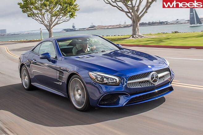 Mercedes -SL500-driving -front -side