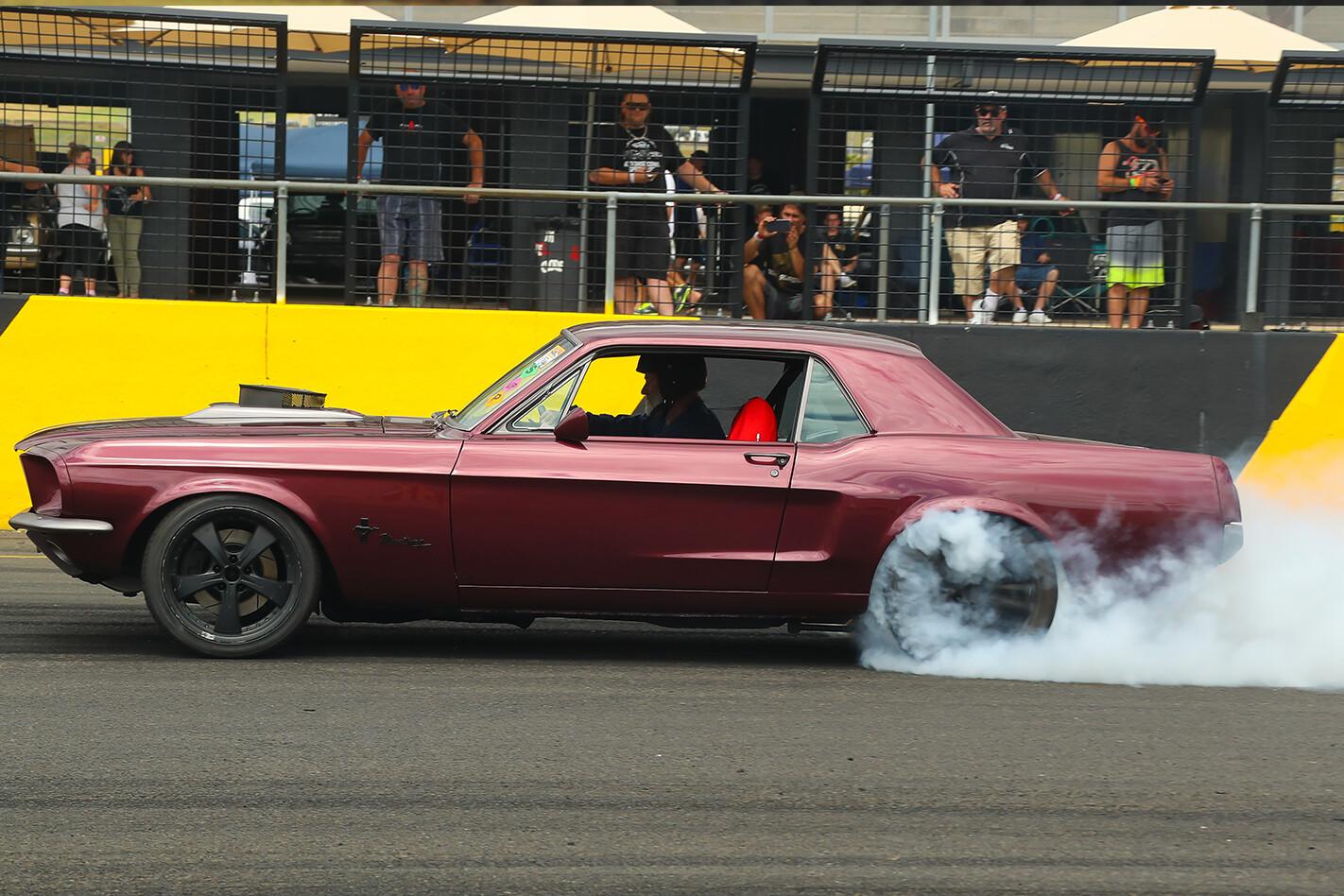 Adrian Morton's Mustang at Powercruise