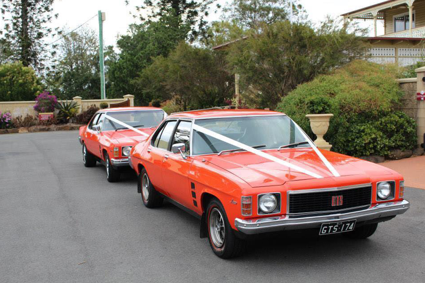 Merv Monaro's wedding cars