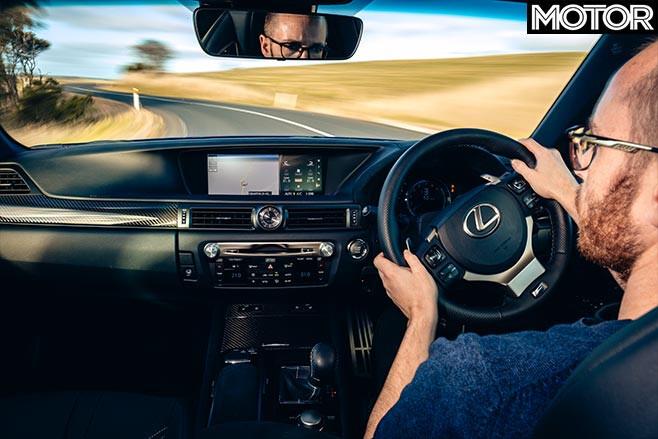 Lexus GS F driving
