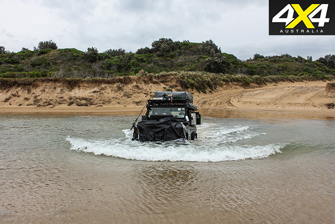 Creek crossing with a 4x4