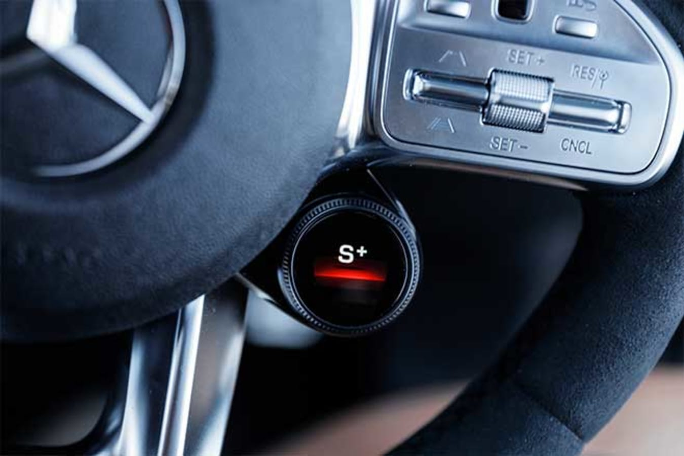 AMG drive mode selector in Sport+