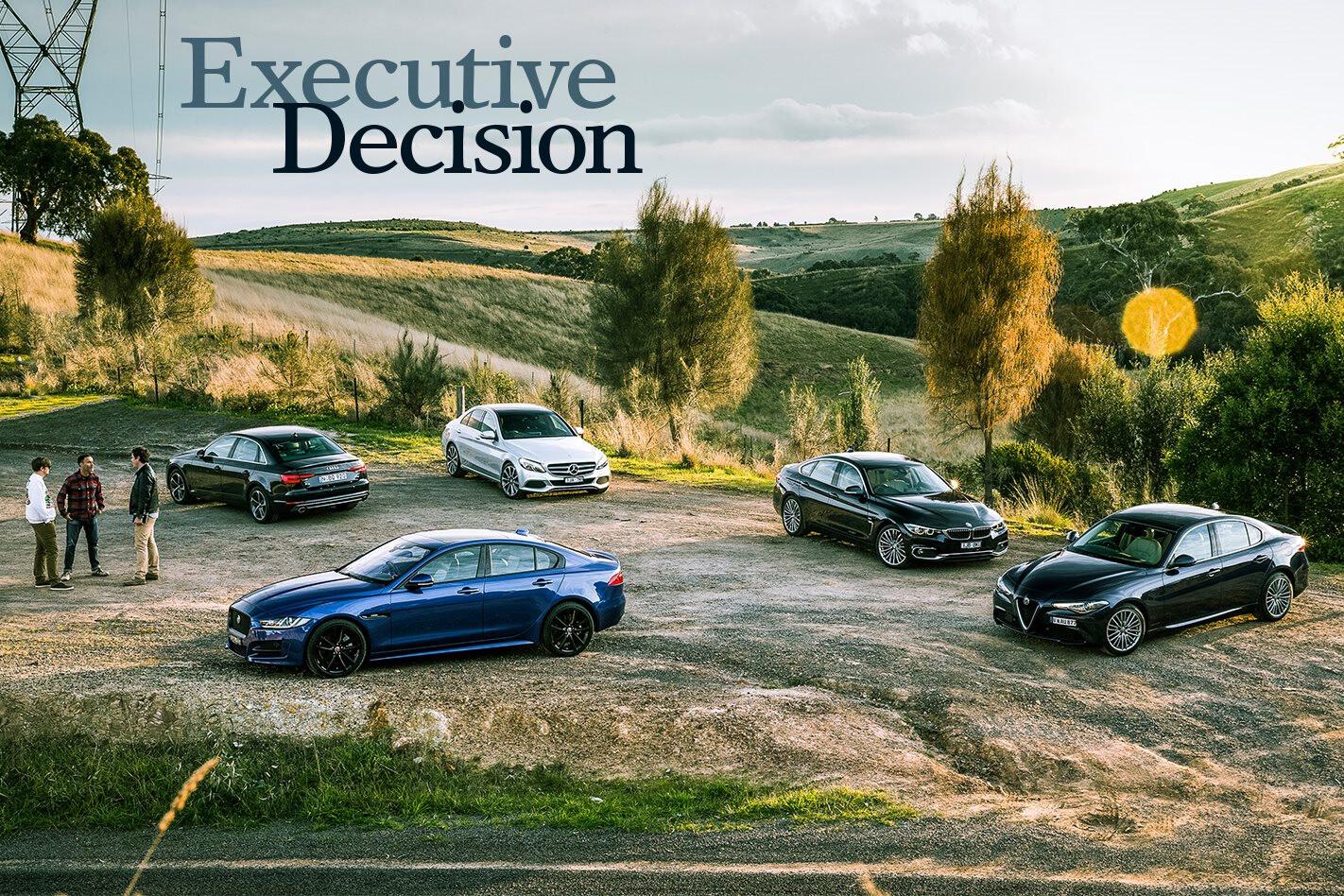 Alfa Giulia v Audi A4 v BMW 4 Series v Jaguar XE v Mercedes-Benz C-class
