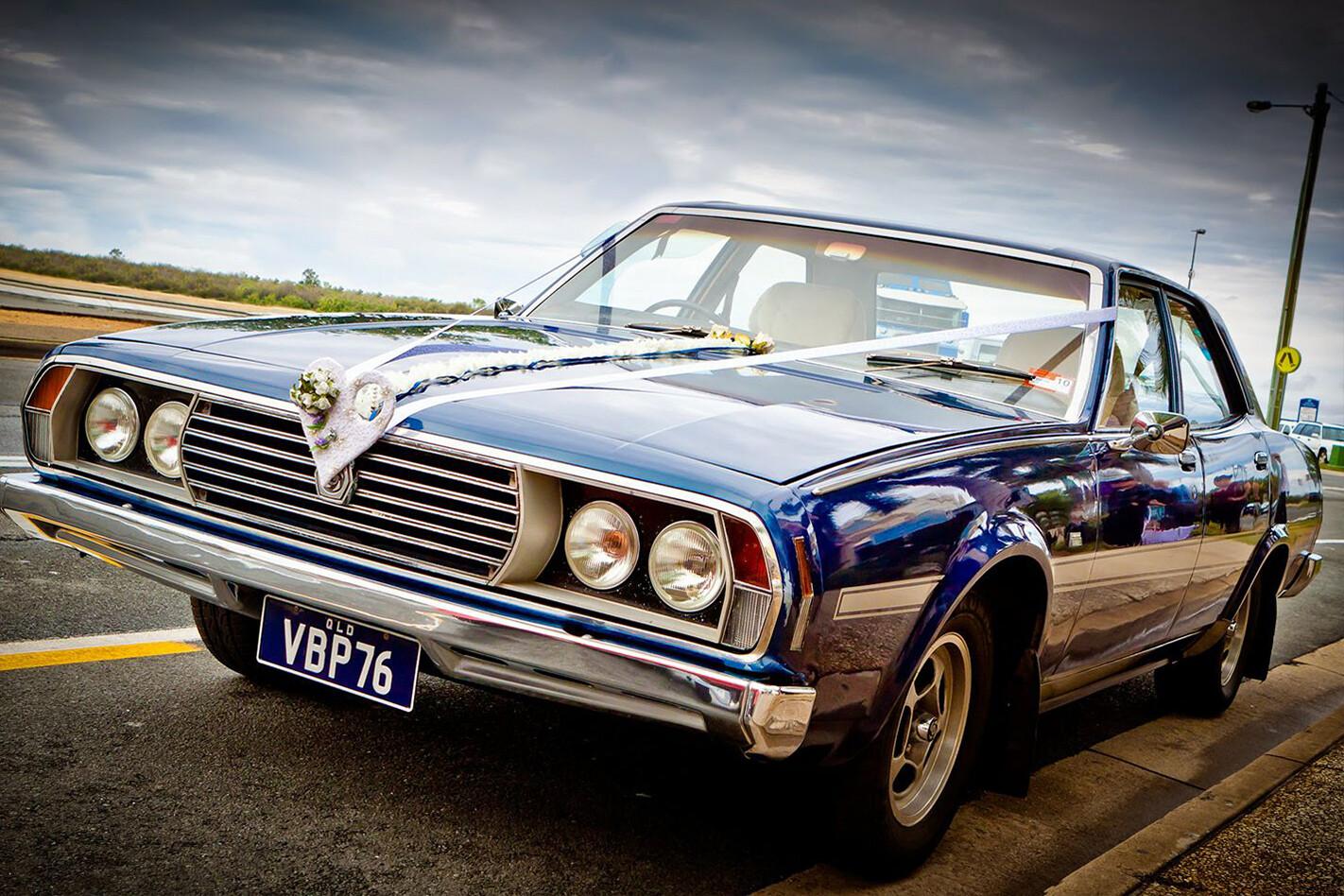 Andrew Smith's Leyland wedding car