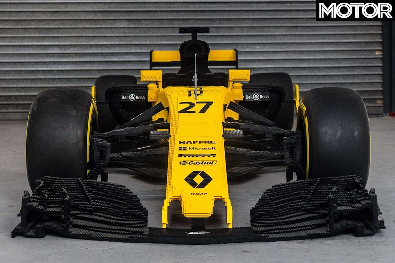 Full Scale Lego Renault F 1 Car Front Jpg