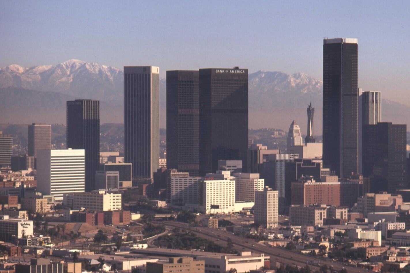 Los Angeles Smog 1970 S Downtown Jpg