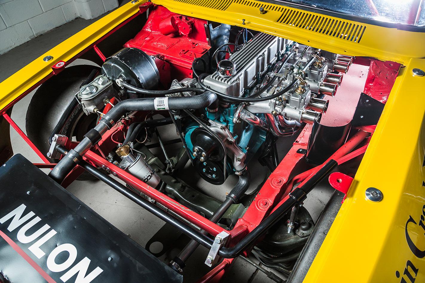 Holden LJ torana sports sedan engine bay