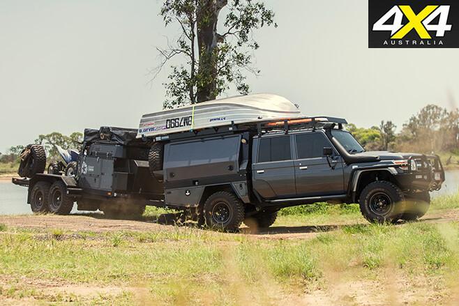 VDJ79 Land Cruiser with trailer 2