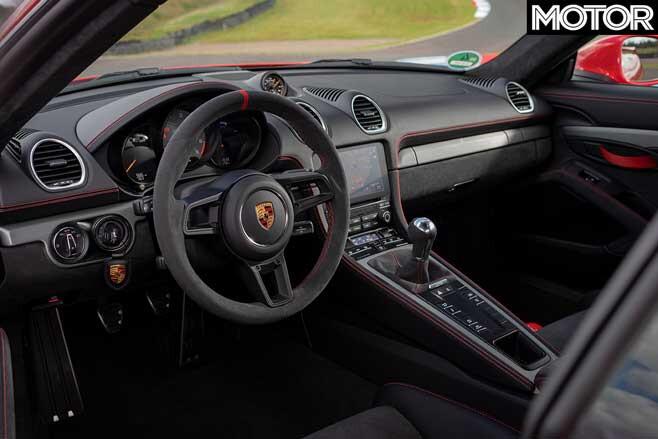 Porsche 718 Cayman GT4 interior cockpit