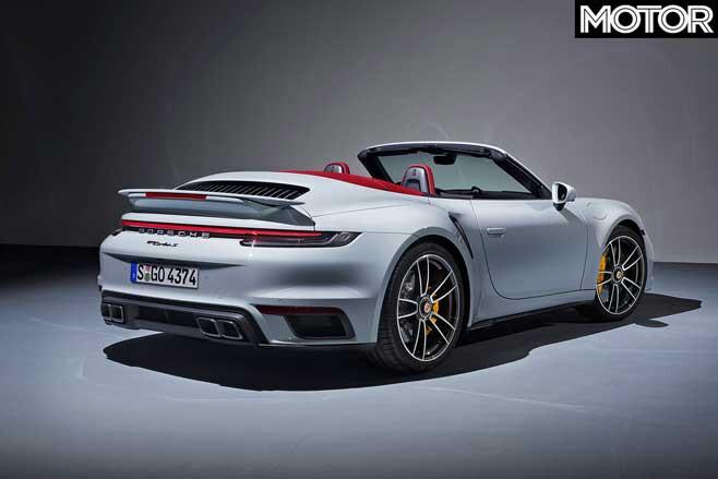 Porsche 992 911 Turbo Cabriolet Rear Jpg