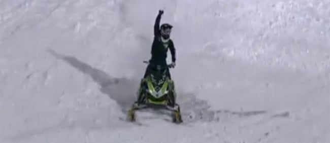 First ever snowmobile front flip