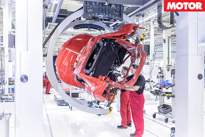 Audi r8 being turned