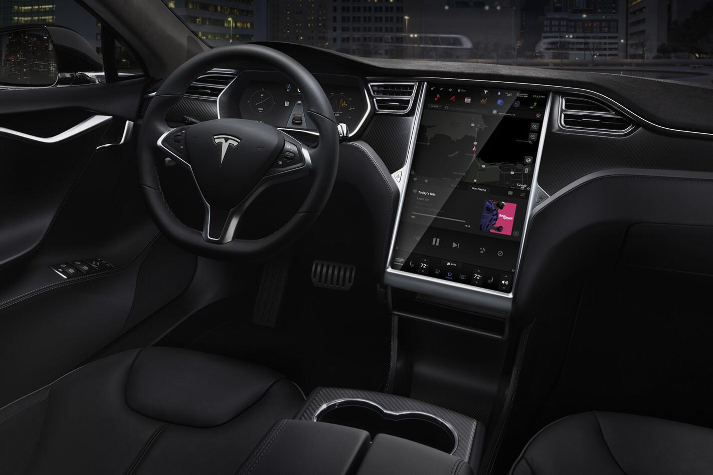 Tesla Model S interior LHD