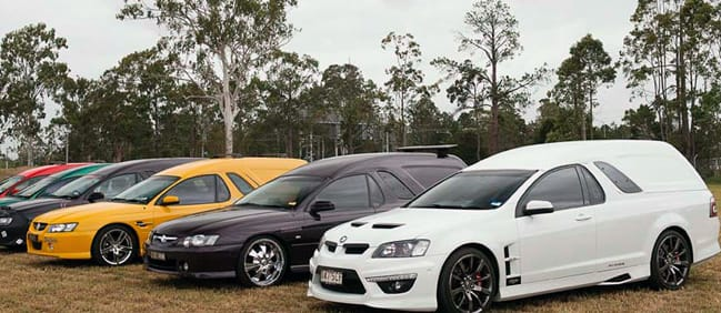 We travelled to Queensland for the 38th Van Nationals over Easter, VE Commodore ute, Street Machine and Hot Rod Show, 2013, australia, muscle car, burnout